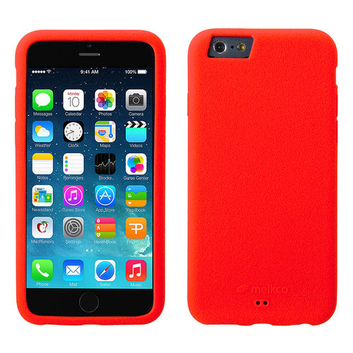 Melkco Silikonovy Case & Wrist Strap for Apple iPhone 6 / 6s - Red