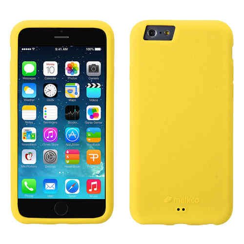 Melkco Silikonovy Case & Wrist Strap for Apple iPhone 6 / 6s - Yellow