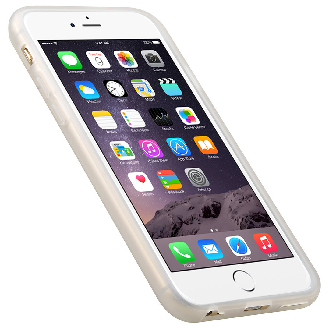 iphone 6 plus white. melkco poly jacket case for apple iphone 6 plus / 6s - white ice iphone