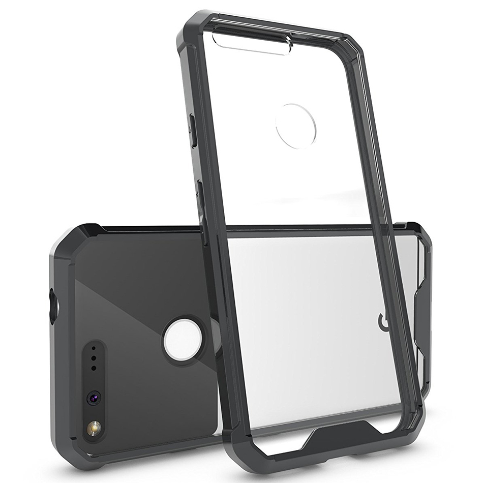 Hybrid Fusion Bumper Case - Google Pixel Phone (Black)