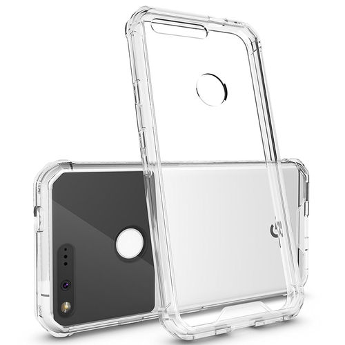 Hybrid Fusion Frame Bumper Case for Google Pixel Phone - Clear