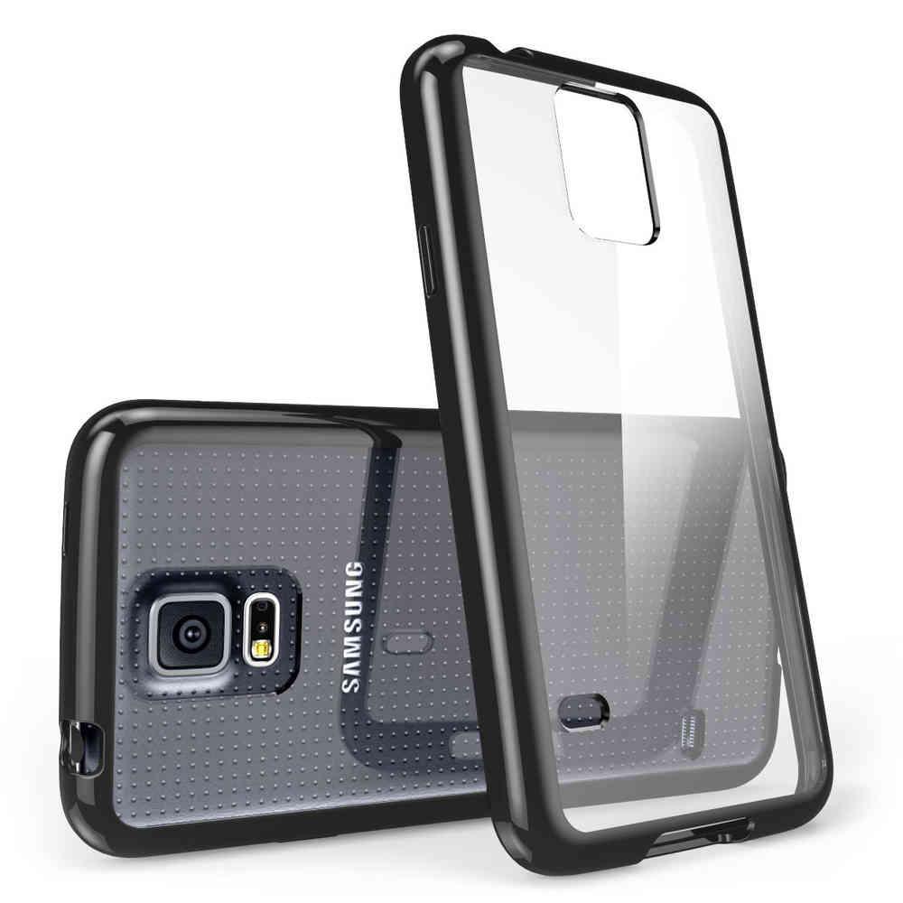 timeless design 77d3f 4b260 Hybrid Bumper Case - Samsung Galaxy S5 (Black)