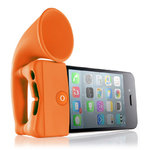 Bone Horn Audio Amplifier Stand for Apple iPhone 4 / 4s - Orange