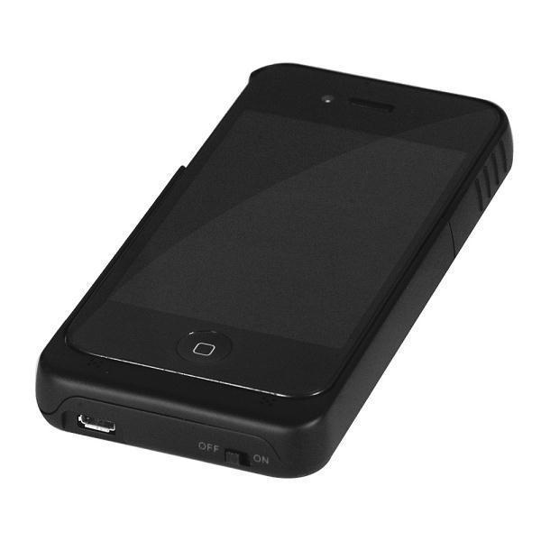 hot sale online f26ec 14103 External Battery Case (1900mAh) for Apple iPhone 4s (Black)