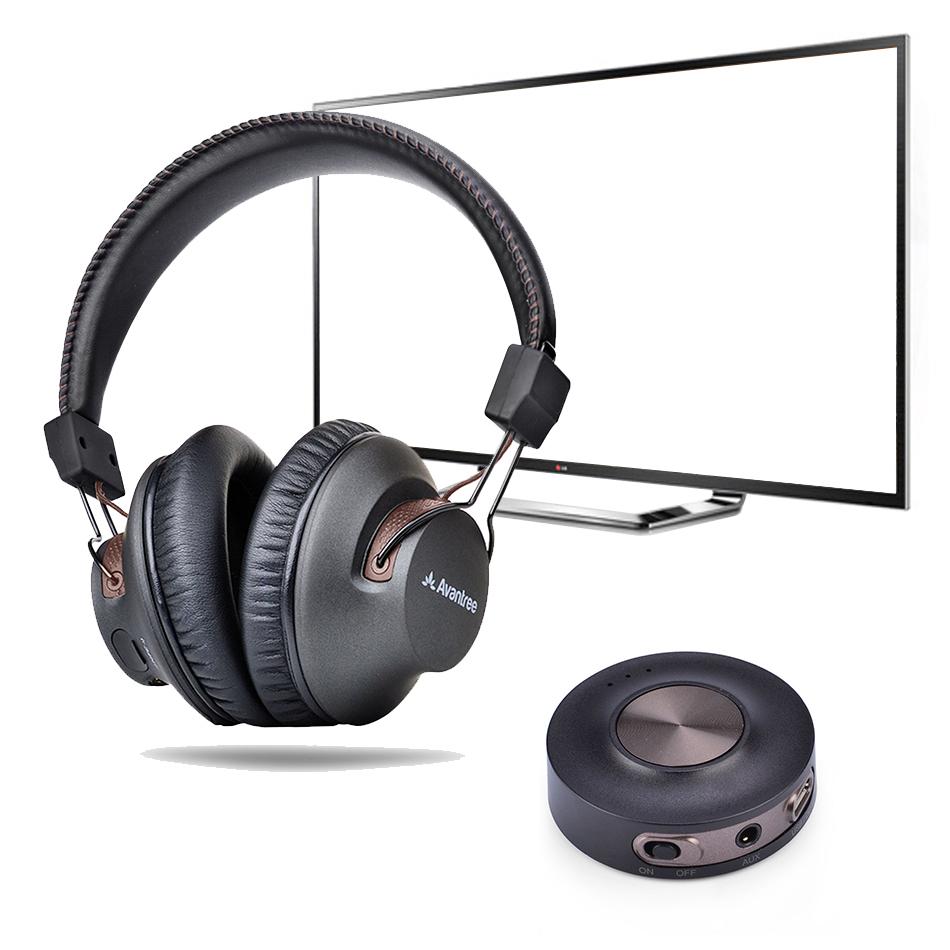 b1edebd07ee Avantree aptX Low Latency Bluetooth Headphones & Transmitter TV Bundle ...
