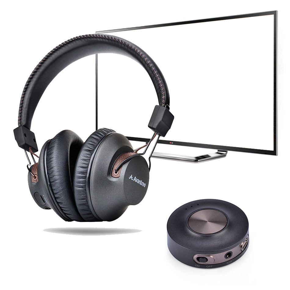 9366cdf9993 Avantree aptX Low Latency Bluetooth Headphones & Transmitter TV Bundle ...