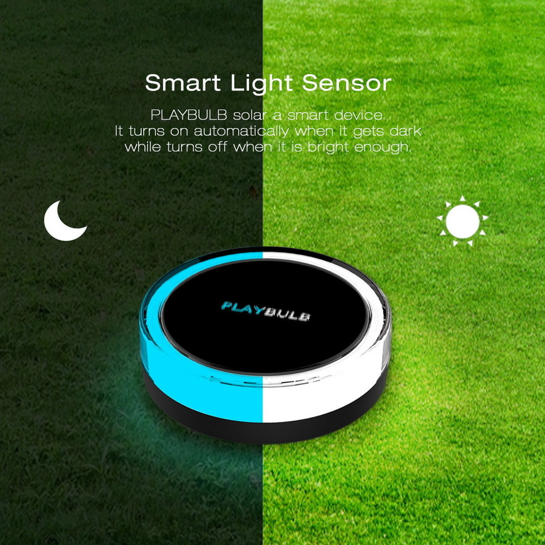 Mipow Playbulb Bluetooth Wireless Solar Power Garden Light Powered Lamp With Sensor Outdoor