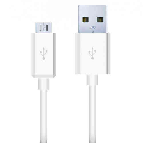 1m Micro USB to USB 2.0 Charging Cable (Charge & Sync) - White