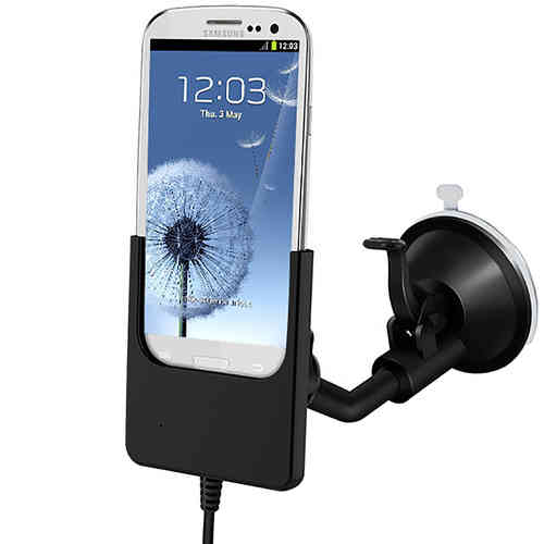 Kidigi Suction Car Mount Holder Cradle & Charger for Samsung Galaxy S3