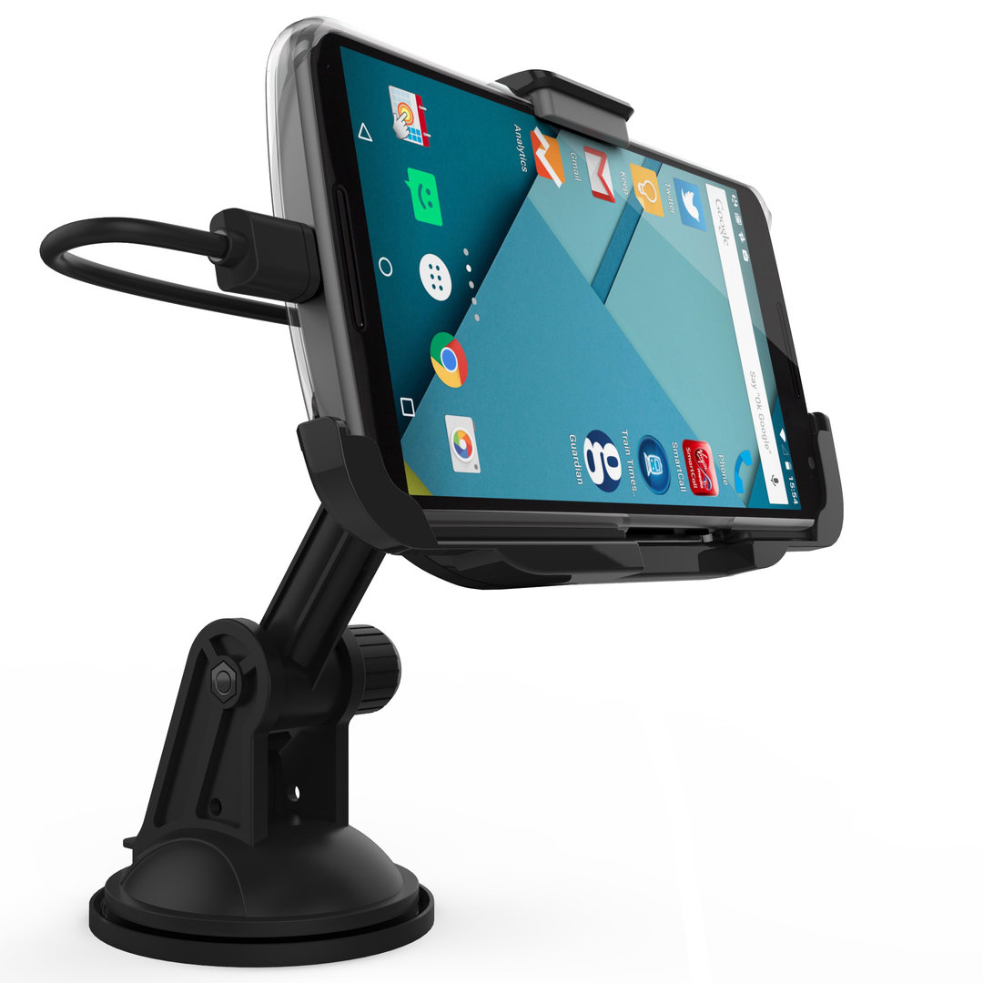 kidigi suction car mount holder & charger - google nexus 6