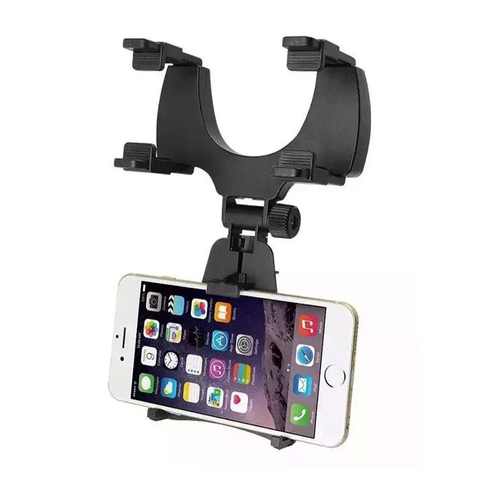 Universal car rear view mirror mount holder for phones for Mirror your phone