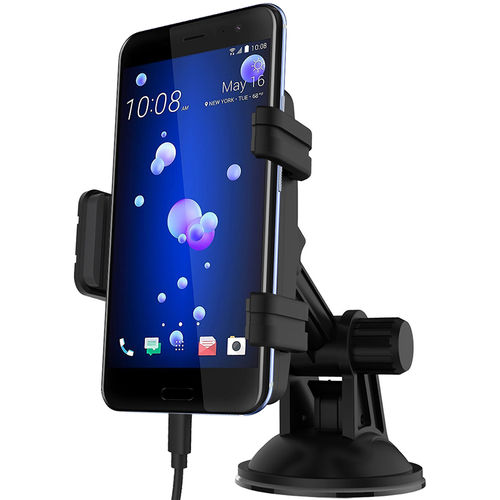 Kidigi Car Mount Holder & USB-C (Type-C) Cable Charger for HTC U11