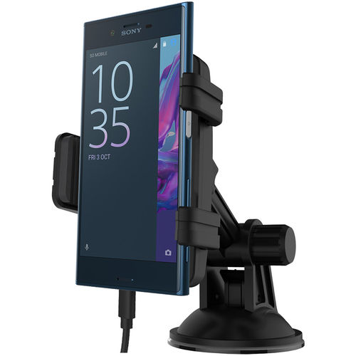 Kidigi Car Mount Holder USB-C (Type-C) Cable Charger - Sony Xperia XZ