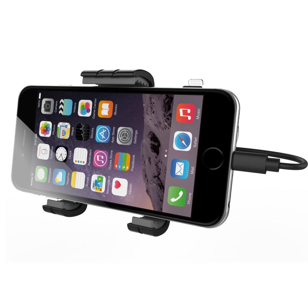 kidigi car mount cradle holder charger for apple iphone 7 7 plus