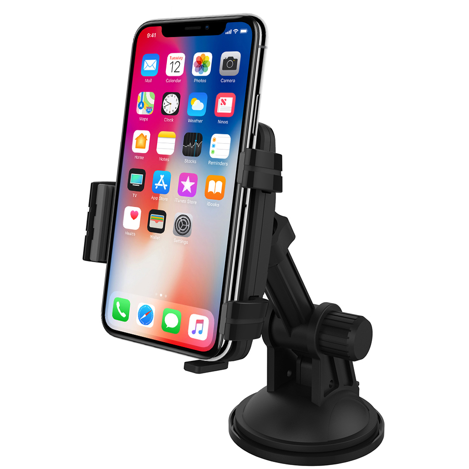 kidigi car mount holder charging cradle apple iphone xs max. Black Bedroom Furniture Sets. Home Design Ideas
