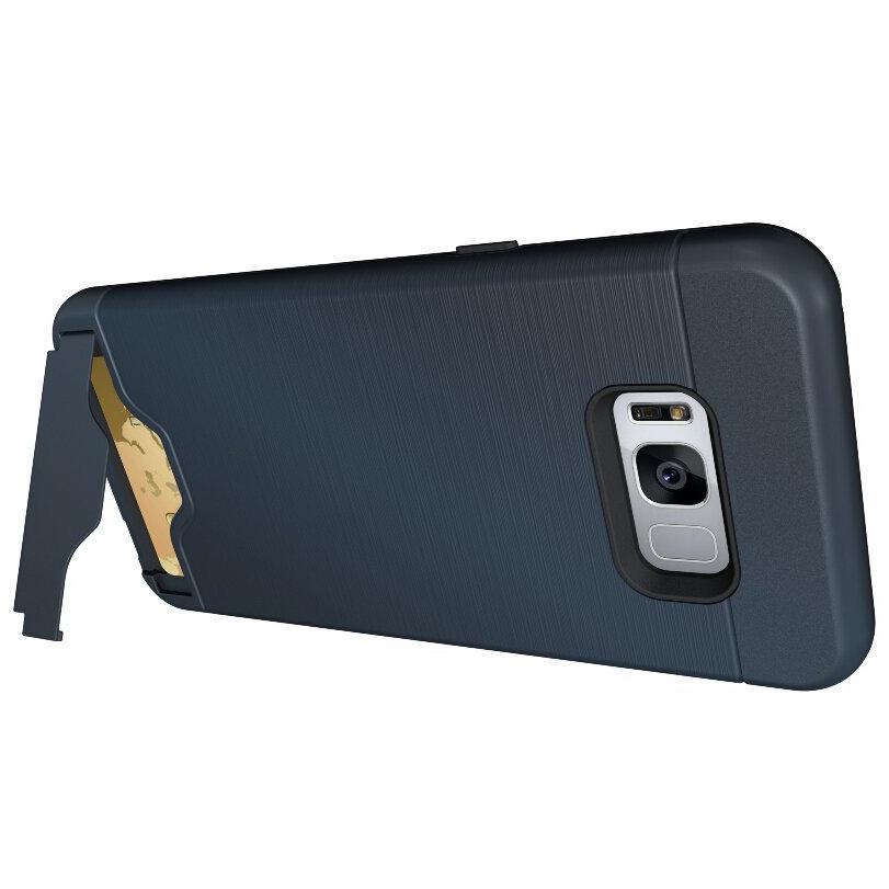 new product 3a805 e8f81 Dual Armour Tough Card Holder Case - Samsung Galaxy S8 (Blue)