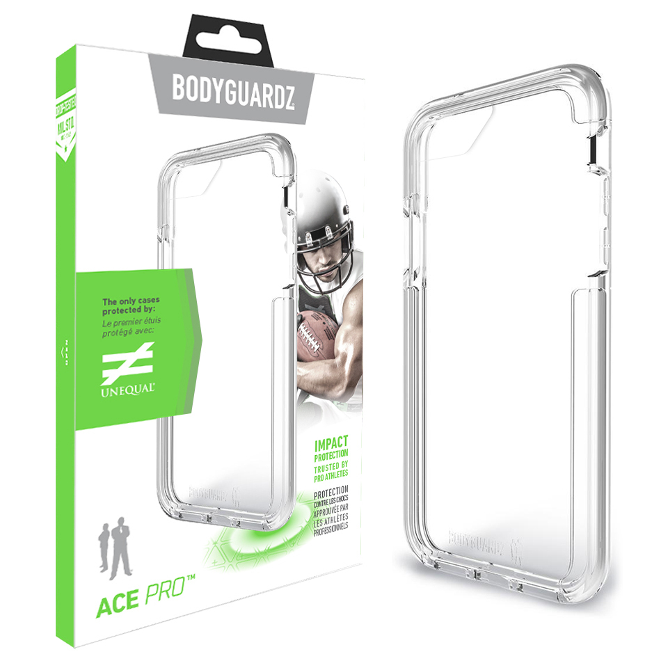 4ad942fa08 BodyGuardz Ace Pro Case for Apple iPhone 8 / 7 / 6s - Clear ...