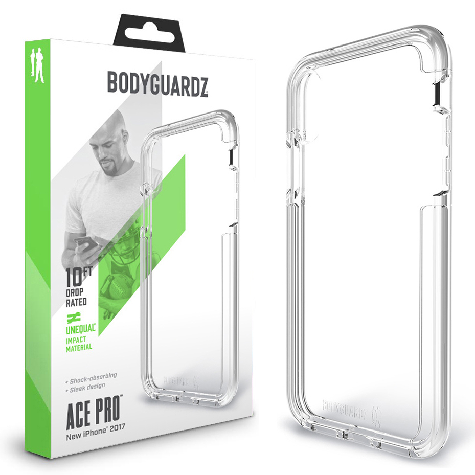 b136dbc576 BodyGuardz Ace Pro Unequal Case for Apple iPhone X / Xs - Clear ...