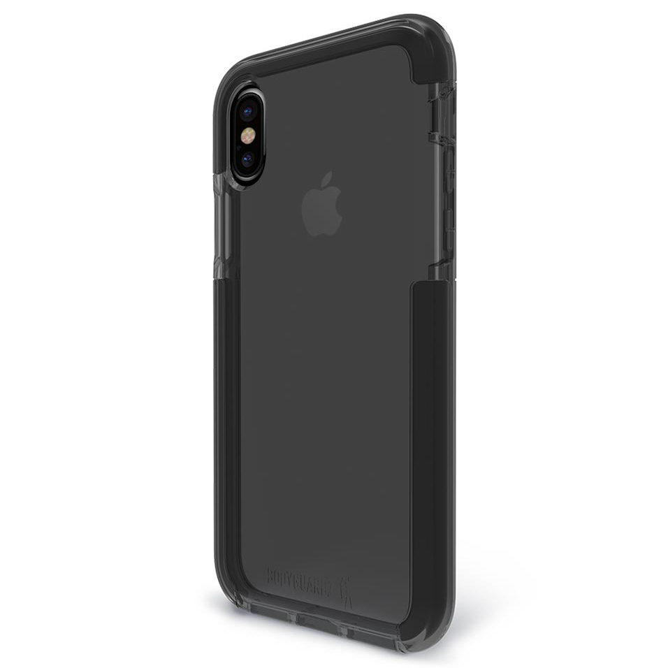 bodyguardz ace pro case for apple iphone xs smoke black. Black Bedroom Furniture Sets. Home Design Ideas