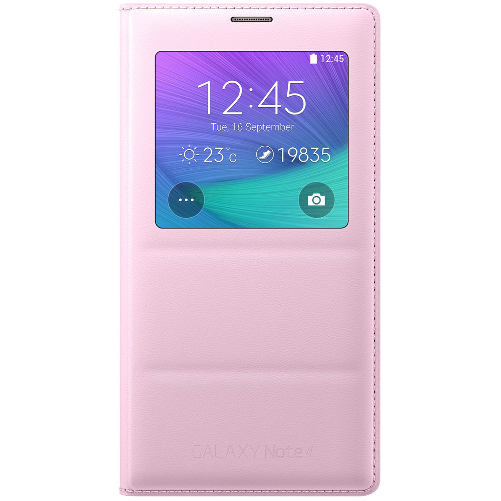 release date: 2d9fc 115c0 Samsung Galaxy Note 4 S-View Flip Case (Light Pink)