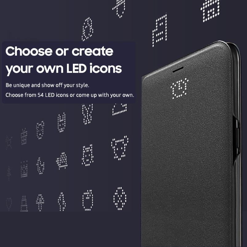 save off 95dea c4ff2 Samsung Galaxy S8 LED View Cover Flip Case (Black)