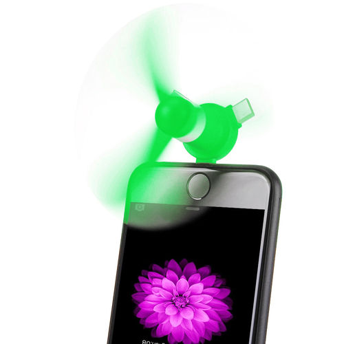 4-in-1 Portable USB Mini Fan Attachment for Phones (2-Pack) - Green