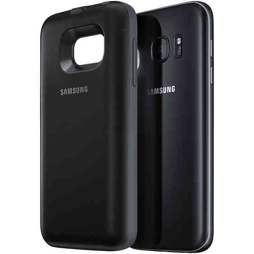 Wireless Charging Battery Backpack Case for Samsung Galaxy S7 - Black