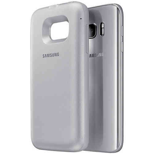 Wireless Charging Battery Backpack Case for Samsung Galaxy S7 - Silver