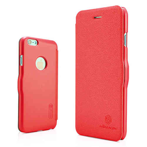 Nillkin Fresh Leather Flip Case for Apple iPhone 6 / 6s - Red