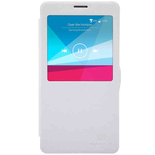 Nillkin Fresh Leather Window Case for Samsung Galaxy Note 4 - White