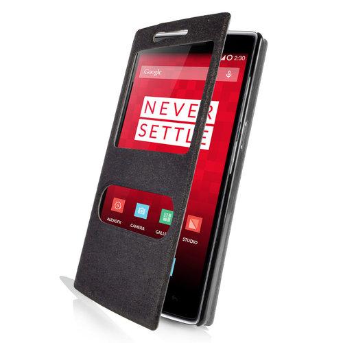 online store 03ca9 13796 Orzly Sneak Peek Display Window Case - OnePlus One (Black)