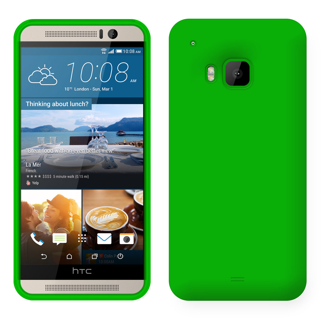 Flexi Candy Silicone Case For Htc One M9 Green Crush Matte