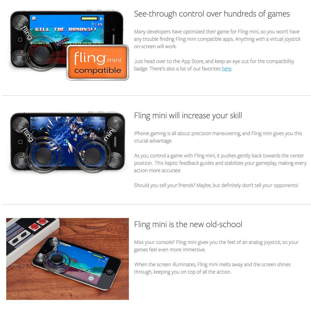 Fling Mini Ninja Joystick Game Controller for Phones