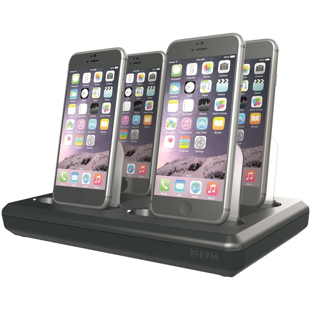 ipad iphone charging station efm mfi station charging hub v2 iphone ipod 6277