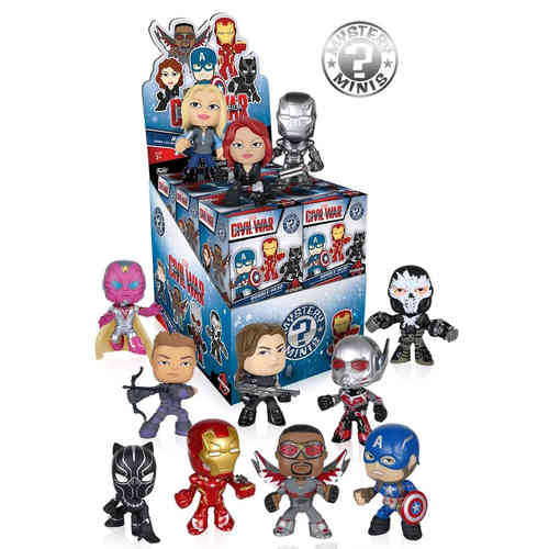 Funko Mystery Minis Bobblehead Box - Captain America 3 Civil War