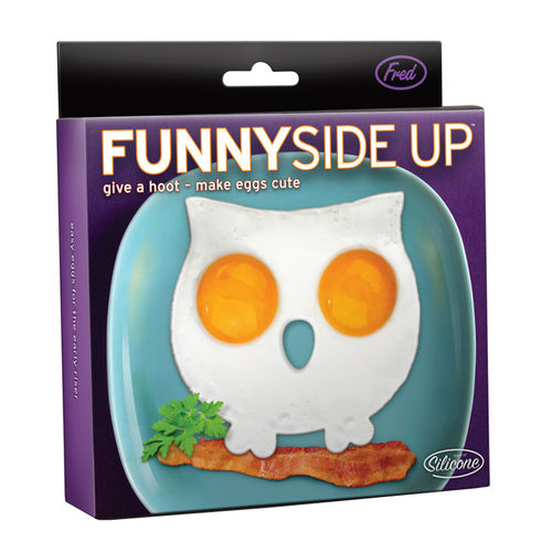 Fred & Friends Funny Side Up - Owl Shaped Egg Ring Mould