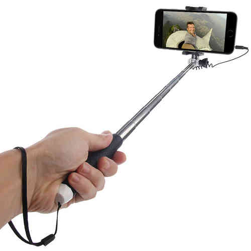 Haweel Mini Extendable Compact Wired Selfie Stick for Mobile Phones