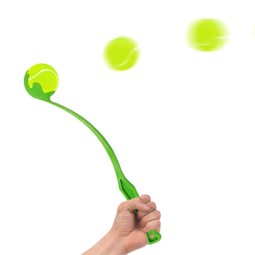 Fetch It Pet Toy Dog Ball Launcher / Exercise Throwing Arm - Green