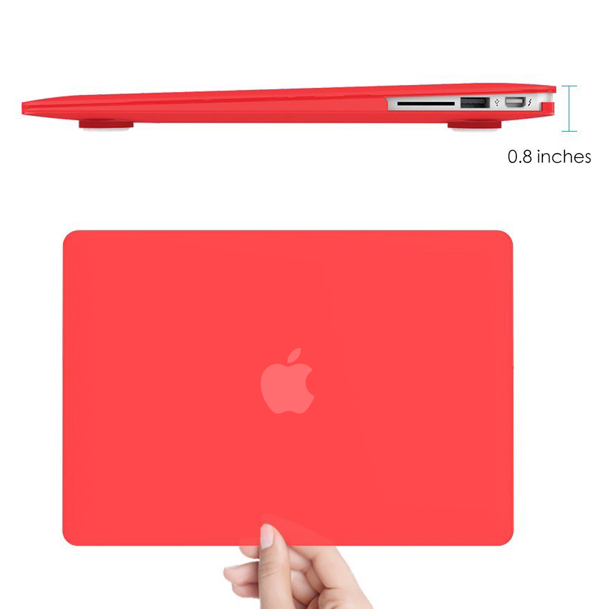 frosted shell hard case apple macbook air 11 inch red. Black Bedroom Furniture Sets. Home Design Ideas