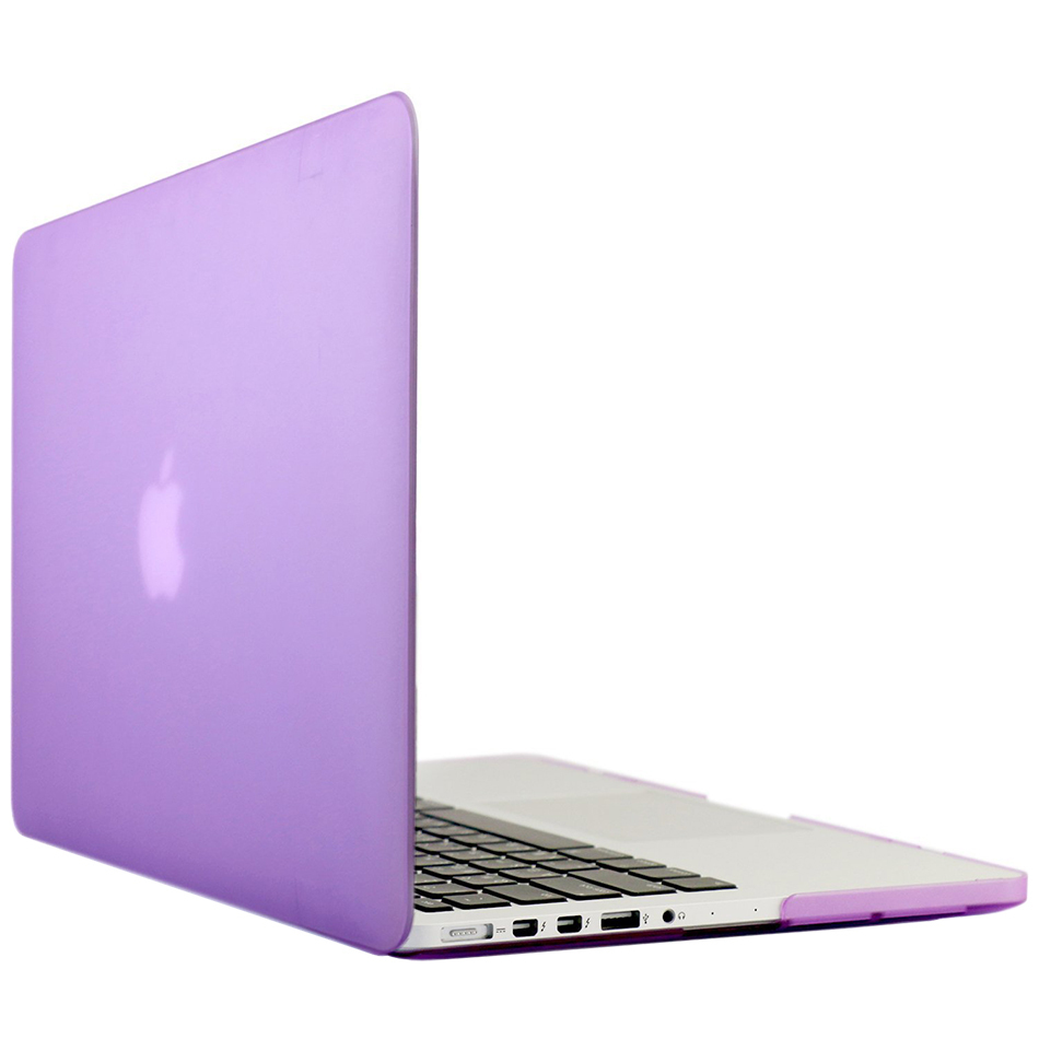 frosted hard case apple macbook pro retina 13 inch purple. Black Bedroom Furniture Sets. Home Design Ideas