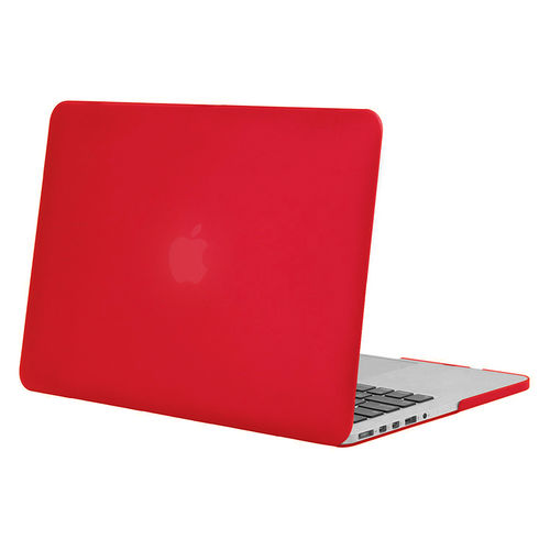 Frosted Hard Case for Apple MacBook Pro Retina (15-inch) - Red