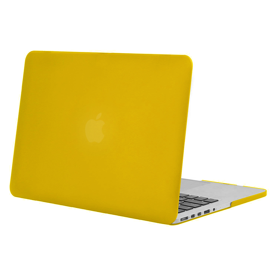 free shipping ecaad 48c1f Frosted Hard Case for Apple MacBook Pro Retina (15-inch) - Yellow
