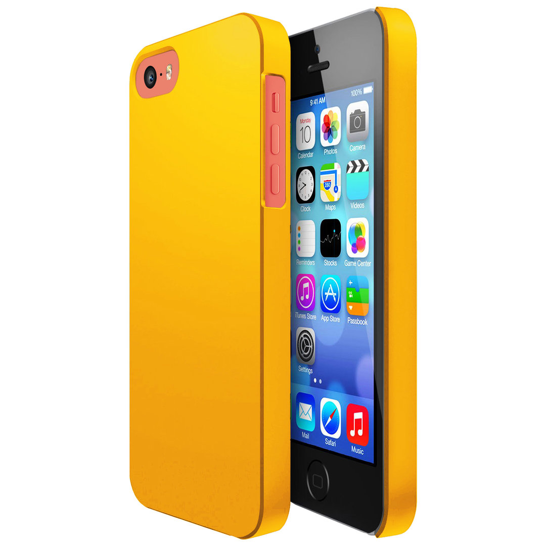 Hard Candy Case for Apple iPhone 5c (Yellow)