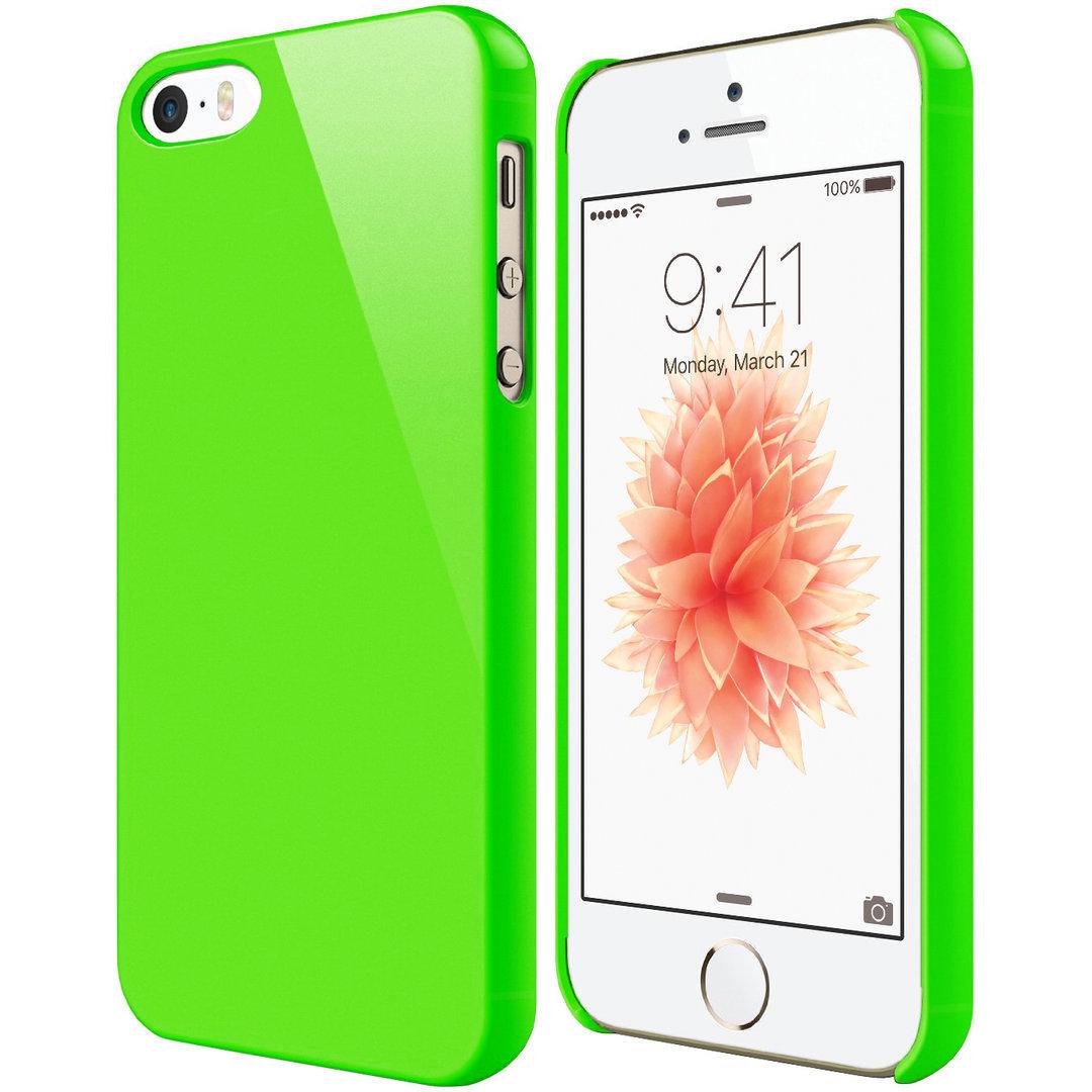 30d5e07eb7 PolySnap Hard Shell Case for Apple iPhone SE / 5s / 5 - Fluro Green
