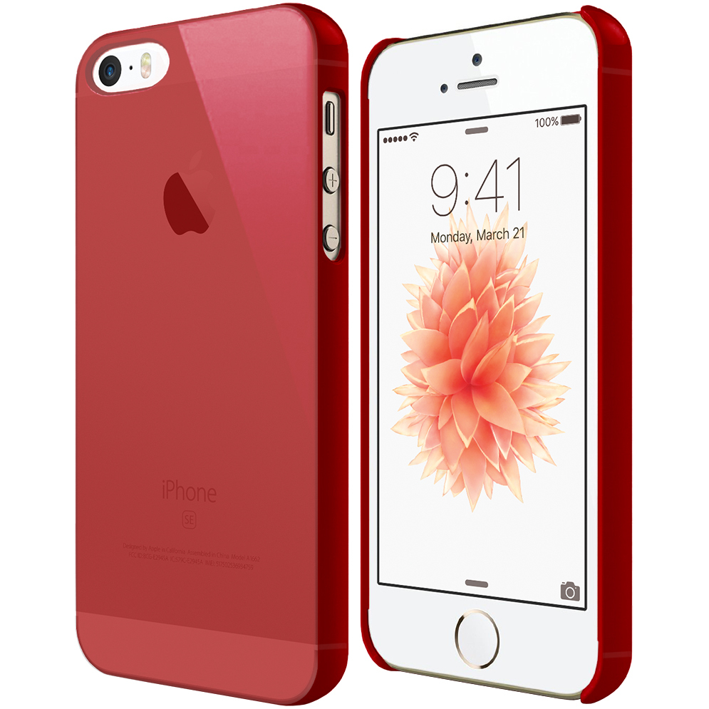 half off 53aa6 e3d33 PolySnap Hard Shell Case for Apple iPhone SE / 5 / 5s - Red Frost