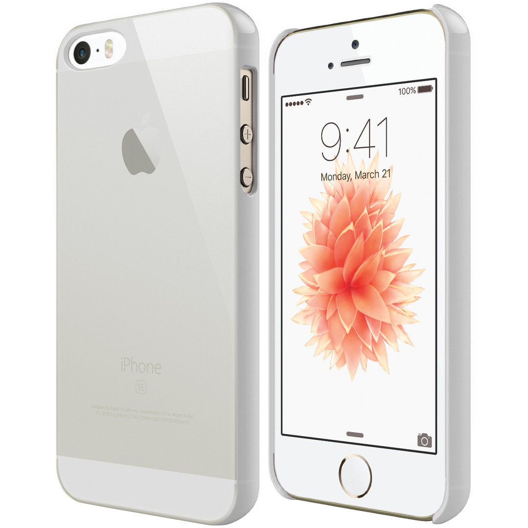 official photos 228ff 69ec0 PolySnap Hard Shell Case for Apple iPhone SE / 5 / 5s - White Frost