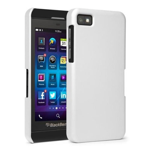Hard Shell Candy Case for BlackBerry Z10 - White (Matte)