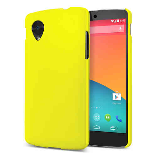 Feather Hard Shell Case for LG Google Nexus 5 - Yellow (Matte)
