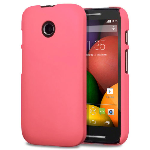Feather Hard Shell Case for Motorola Moto E (1st Gen) - Pink