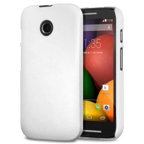 Feather Hard Shell Case for Motorola Moto E (1st Gen) - White